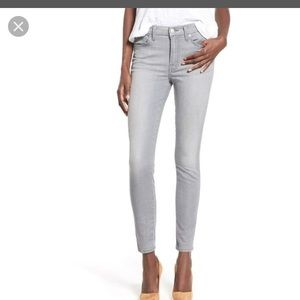 7 for all mankind dove gray ankle skinny jeans